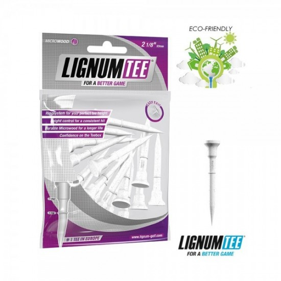 Lignum Tee 2 1/8 53 mm 16 Pcs